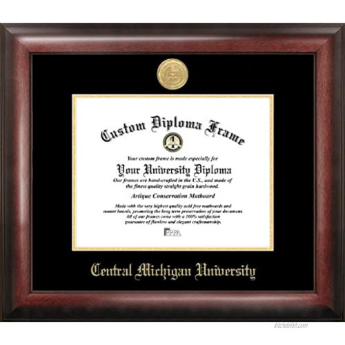 Campus Images MI999GED Central Michigan University Embossed Diploma Frame 8.5 x 11 Gold