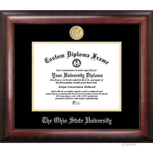 Campus Images OH987GED Ohio State University Embossed Diploma Frame 8.5 x 11 Gold
