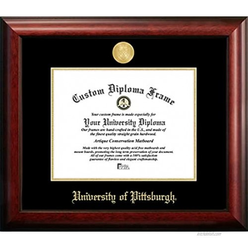 Campus Images PA993GED University of Pittsburgh Embossed Diploma Frame 8.5 x 11 Gold