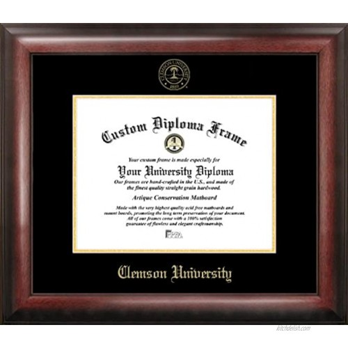 Campus Images SC994GED Clemson University Embossed Diploma Frame 8.5 x 11 Gold
