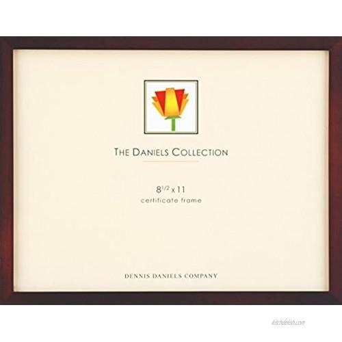 Dennis Daniels Gallery Woods Certificate Frame 8.5 x 11 Inches Walnut Finish