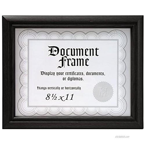 Malden International Designs Home Profiles Black Document Frame 8.5x11 Black