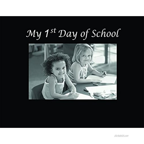Infusion Gifts 3037-SB My 1st Day of School Engraved Photo Frames Small Black