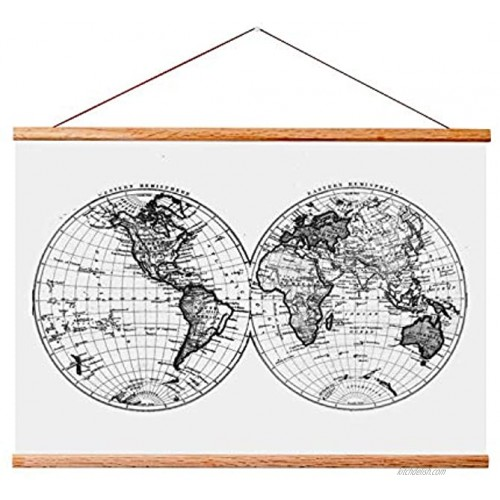 """Landmass 24"""" Wide Magnetic Poster Hanger Frame Wall Hanging Wooden Frame For Posters Prints Photos Pictures and Artwork Wood Frame For Scratch Off Map 24x36 24x32 24x18 24x17 17x24"""