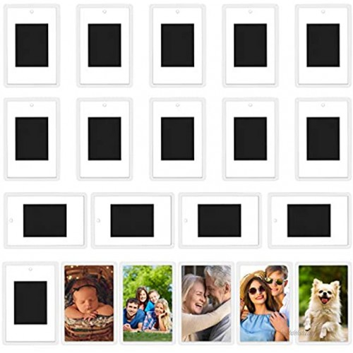 Kurtzy Blank Photo Frame Insert Fridge Magnets 20 Pack For Photos 7 x 4.5cm 2.75 x 1.77 inches Translucent Clear Acrylic Refrigerator Magnets for Small Photos Gifts for Family & Friends