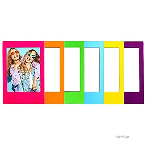 Mustard Rainbow Magnetic Frames by Magnetic Photo Frames Cute Instax Frames 6 Magnetic Frames In Rainbow Colours