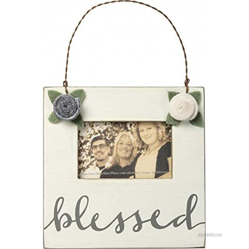 PBK Primitives by Kathy- Mini Frame Blessed Friend Coworker Gift Flowers 100661