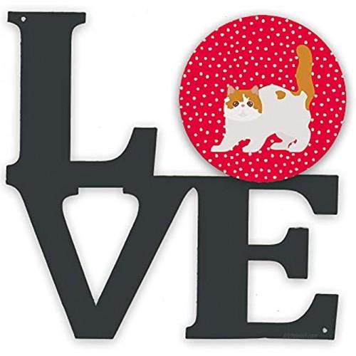 Caroline's Treasures Exotic Shorthair #4 Cat Metal Artwork Love Wall-Decor Multicolor