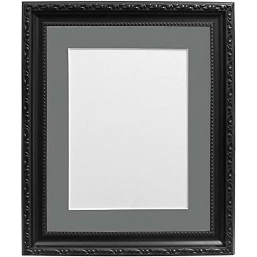 FRAMES BY POST AP3025BLACKFRAMEWITH-DGREYMOUNT50401510 30mm Wide AP3025 Black Picture PhotoFrame with Dark Grey Mount 50x40cm Pic Size 15x10 Plastic Glass 50x40x1.5 cm