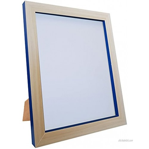 FRAMES BY POST MAGNUSBEECOBBLUE1411 Magnus Picture Photo Frame 14 x 11-Inch Beech Cobalt Blue