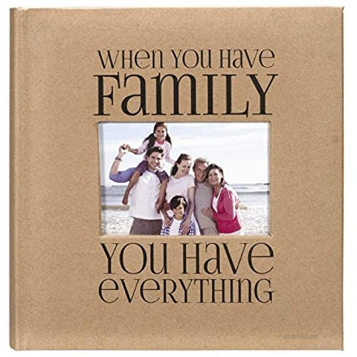 Malden International Designs 7091-26 Sentiments Family with Memo Photo Opening Cover Brag Book 2-Up 160-4x6 Tan