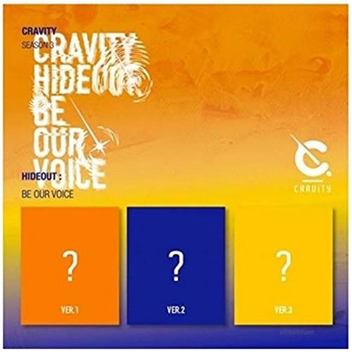 Cravity Season3. Hideout: Be Our Voice Version.3 CD+132p PhotoBook+1p Sticker+1p Polaroid+Message PhotoCard Set+Tracking Kpop Sealed