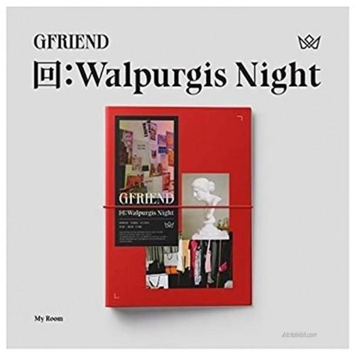 Gfriend 回:Walpurgis Night 3rd Album My Room Version CD+60p PhotoBook+24p Lyrics+16p Mini Book+1p PhotoStand+1p Pop-Up Card+1p Business Card+1p Selfie+Message PhotoCard Set+Tracking Kpop