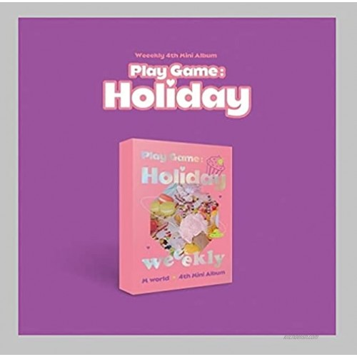 Weeekly Play Game : Holiday 4th Mini Album M Ver CD+1p Poster+92p PhotoBook+2p PhotoCard+1p Photo Ticket+1p Sticker+1p Printed Photo+1p Travel Name Tag+Message PhotoCard Set+Tracking Kpop Sealed