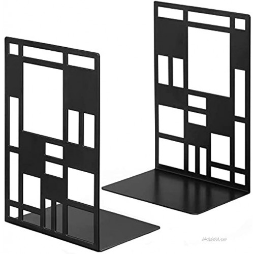 Bookend Book Ends for Shelves Heavy Books Book Shelf Holder Home Decorative Metal Bookends Black Book end Supports